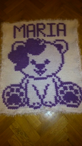 Little girly teddy bear blanket for baby Maria