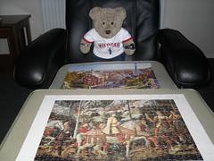 Twofer!* (pefkosmad) Tags: bear ted toy soft teddy fluffy hobby plush puzzle leisure jigsaw grafix pastime artpuzzle tedricstudmuffin