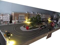 A little light work  (1) (kingsway john) Tags: street building london layout lights model transport models illumination tram illuminated shelf card kits lamps tramway diorama kingsway oogauge 176scale