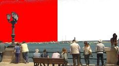 Colori di Bari (francescotrizio1) Tags: mare colori lungomare bari ragazza biancorosso