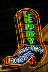 Leddy Handmade Boots (Mabry Campbell) Tags: usa sign photography boot march photo neon texas photographer unitedstates image tx unitedstatesofamerica houston 85mm photograph fineartphotography cowboyboots 125 leddy architecturalphotography businesssign 2015 commercialphotography f32 ef85mmf18usm houstonlivestockshowrodeo architecturephotography fineartphotographer sec mabrycampbell march152015 20150315h6a4330