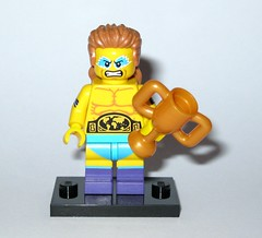 71011 14 wrestling champion minifigure lego series 15 minifigures 2016 a (tjparkside) Tags: make up muscles hair belt lego boots g wrestling mullet 14 champion makeup 15 mini figure gstring string series trophy trophies figures fifteen fourteen minifigure 2016 minifigures 71011