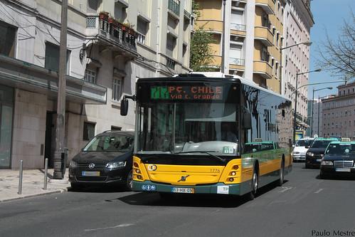 Volvo B7R LE Caetanobus CI512 1776 Carris, Avenida Almirante Reis, 5 de Abril de 2015
