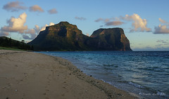 Afternoon light - Lord Howe Island (NettyA) Tags: light mountains beach water clouds coast sand afternoon shoreline australia coastal shore nsw day4 unescoworldheritage lordhoweisland thelagoon 2016 lhi mtgower mtlidgbird lordhoweforclimate