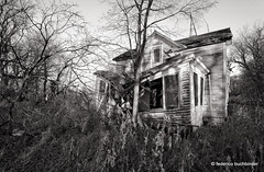 There's a Ghost in Every Town II (/ shadows and light) Tags: trees bw house abandoned monochrome grass minnesota rural awning countryside scary decay freaky eerie creepy spooky shade derelict tinted abandonment decayed collapsing ruralexploration rurex nearlancaster trixgrain