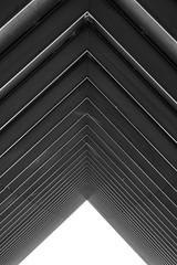 Triangles (C_MC_FL) Tags: blackandwhite bw abstract building architecture corner canon photography eos blackwhite triangle pattern fotografie geometry row symmetry repetition architektur sw tamron gebude ecke muster abstrakt repeating geometrie symmetrie dreieck reihe schwarzweis 18270 60d b008 hintereinander