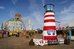 Pleasureland (WISEBUYS21) Tags: park family sea irish lighthouse white holiday ice childhood wheel liverpool out coast seaside big day ride candy near knuckle cream ferris round theme about blackpool southport bot pleasureland floss merseyside i wisebuys21