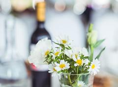 White Little Gerbera Flowers in the Glass (asusmt) Tags: wedding stilllife white flower macro gerbera micro marguerite