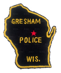 Gresham Police Patch (Nate_892) Tags: county green wisconsin bay coin conservation police grand valley badge fox milwaukee waukesha sheriff patch tribe sheboygan gresham wi chute challenge swat oneida outagamie