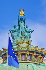 Paris Avril 2016 - 172 sur le toit de l'Opra Garnier (paspog) Tags: roof paris france spring roofs decke april opra toit avril printemps frhling toits 2016 decken opragarnier toitsdeparis toitsdelopra