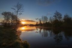Good Morning Sunshine! (Reina Smallenbroek) Tags: water sunrise groningen drenthe zonsopkomst leekstermeergebied groningerwesterkwartier lakeleek reinasmallenbroek leeksterhooddiep