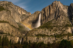 Moonbow at Upper Yosemite Fall (Images by John 'K') Tags: yosemitefalls waterfall rainbow nikon explore yosemite yosemitenationalpark yosemitevalley johnk explored johnkrzesinski moobow randomok