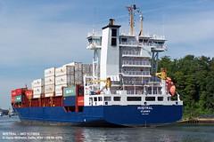 MISTRAL (9376024) (014-06.08.2015) (HWDKI) Tags: ship vessel containership schiff kiel nordostseekanal imo nok landwehr mistral containerschiff kielcanal delfs sietas hanswilhelmdelfs 9376024