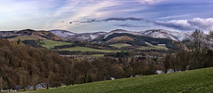 Dusk over Newby Kipps (Scotty Rae) Tags: panorama snow landscape scotland spring dusk hills peebles scottishborders