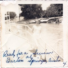 Ready for a swim at Barton Springs in Austin, TX (Living Vintage) Tags: summer water pool girl swimming swim vintage austin texas tx teenager bartonsprings