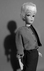 9. Dark Shadow (Foxy Belle) Tags: white black eyes dolls barbie retro elite 1960s clone eg