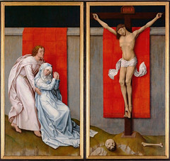 Van der Weyden, The Crucifixion, with the Virgin and Saint John the Evangelist Mourning, c. 1460