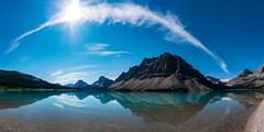 Bow Lake, Alberta (Steve AM) Tags: albertacanada bow canada lake bowlake alberta canadianrockies moosetour rockies canadian rockymountains summer2013 northamerica pano panorama panoramic stitched