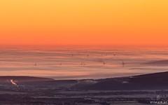 Giant II (Wim Air) Tags: sunset fog clouds sunrise austria wind wand turbine hohe turbines tourbine tourbines wimairat