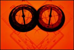 Different Exposures (OLLY774) Tags: backlight pentaxmesuper compass flashgun redscale strobistcom filmism agfavistahomemaderedscale