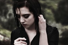 Tears in Rain III (SkylerBrown) Tags: portrait woman cold wet girl face rain dark eyes pretty mood moody gothic makeup dramatic lips pale brunette darkhair kataltman