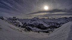 Stormy weather at Schonegg (simonjoel96) Tags: winter sun snow ski mountains alps clouds landscape switzerland skiing sony scenic picture wideangle fisheye berge alpha hdr engelberg 57 schonegg brunni