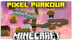 Pixel Parkour Map 1.8.9 (MinhStyle) Tags: game video games gaming online minecraft