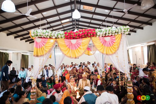 The wedding mandap