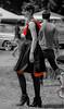 DSC_0797 (La Marquise de Jade) Tags: woman monochrome rouge gris noir noiretblanc robe femme rockabilly blanc couleur talons féminine sélective