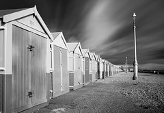 Pebbledash (TS446Photo) Tags: sea sky blackandwhite bw white holiday seascape storm black art home lamp clouds 35mm landscape coast nikon brighton doors post sigma pebble hut coastal d600 ts446