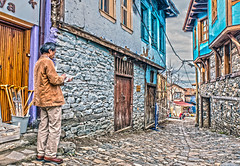 Drawman (ilkay.cihaner) Tags: trip turkey nikon colorful village outdoor drawing trkiye d750 dslr fx tamron f28 hdr bursa 2470mm cumalkzk nikonclub nikond750 dslrclub