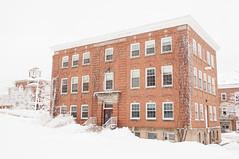 Rhodes Hall (Grant is a Grant) Tags: ca winter snow canada campus novascotia ns snowstorm january kitlens wolfville 1855 acadia acadiauniversity acadiau nikkor1855mm nikond90 vsco vscofilm