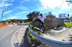 Kickflip over rail gap by Jesse Reed 0985 (4ELEVEN Images) Tags: street sports movement nikon texas skateboarding action extreme gap rail fisheye skateboard skater sanmarcos photoscape 4eleven jessereed