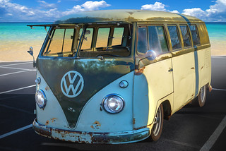 Volkswagon Van, Topaz BuzSim (Cars & Coffee Of The Upstate)