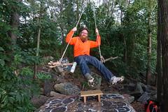 swing time! (nicknormal) Tags: orange swing queens hunterspoint waterbottle longislandcity