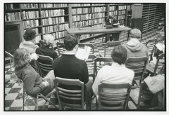 Marathon Reading at West Portal Branch Library, photo Rose Skytta (San Francisco Public Library Branch Archives) Tags: 1977 westportalbranchlibrary