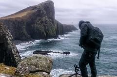 Living on the Edge (ant0191) Tags: sea cliff seascape scotland rocks outdoor theisleofskye neistpointlighthouse sigma19mmf28 sonya6000