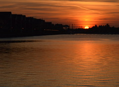 Another glowing sunset at Preston Docks (Tony Worrall Foto) Tags: county uk sunset england orange sun wet water lines marina docks dark evening stream glow tour open place northwest unitedkingdom dusk country north visit images location lancashire area preston northern update attraction settingsun lancs riversway prestondocks ashtononribble welovethenorth