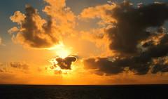 Sun Block (Mary Faith.) Tags: sunset sky orange seascape sunblock
