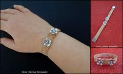 Pulseira em Cortia (Dora Cristina Fernandes) Tags: handmade crafts feitomo artesanal jewelry bijoux bijuteria recuerdo souvenir bracelet textiles acessories pulseira manualidades bisuteria acessrios lembrancinha bijuteriaartesanal