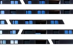 Luxembourg (DeboraDiDonato) Tags: blue windows blackandwhite white black detail art geometric lines architecture contrast project geometry fineart minimal harmony minimalism conceptual asymmetry architettura mnml concettuale asymmetric