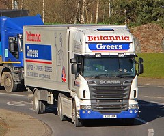 SCANIA R560 V8 - BRITANNIA GREERS Removals Keith (scotrailm 63A) Tags: trucks removals lorries