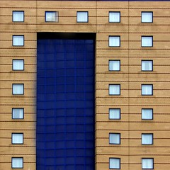 Internalised (Andrea Kennard) Tags: blue windows light red abstract lines yellow metal buildings square colours business shade colourful residential
