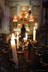 Scene from a Venetian alter (pic fix) Tags: venice italy colour church canon candles italia bokeh altar figure canonphotography bokehwhores