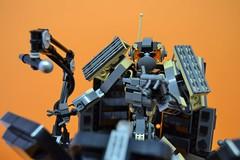 Decibelle_10 (Shadowgear6335) Tags: orange radio robot factory lego good technic hero bionicle mech moc shadowgear6335 bionicle2015