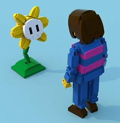 Flowey 2 (pb0012) Tags: game flower video lego character human indie videogame frisk ldd indiegame flowey undertale floweyundertale friskundertale