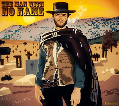 The Man with No Name (fxlandthe5) Tags: sergio illustration cowboy drawing good bad ugly western clint spaghetti leone almera filmmaker clinteastwood vectorial eastwood sergioleone enniomorricone photographe leevancleef themanwithnoname thegoodthebadandtheugly lebonlabruteetletruand blondin westernspaghetti westerns vexel scnariste graphiste ralisateur ilbuonoilbruttoilcattivo eliwallach fxland lucianovincenzoni fxlandthe5 fxlandthefifth lhommesansnom trilogiedudollar