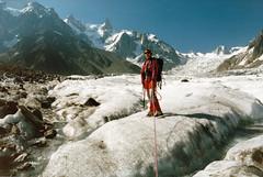 Souvenir (Yvan LEMEUR) Tags: mountain france alpes glacier paysage chamonix extrieur crevasse glace alpinisme merdeglace randonne hautesavoie corde hautemontagne glacierdugant randonneglaciaire