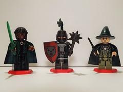 Sorceress, Enchanted Knight, & Enchanter (Nilbog Bricks) Tags: dark lego witch wizard magic evil spell fantasy enchanter knight minifig custom mage warlock sorceress sorcerer minifigures conjuror wizardess brickarms brickforge brickwarriors