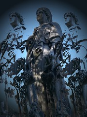 Glenwood Cemetery (Gerri Gray Photography) Tags: cemetery grave graveyard statue death memorial victorian gravestone mementomori tombstones vignetting vignette gravemarker